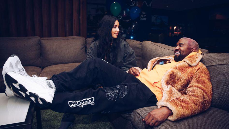 Kanye West mit Ehefrau Kim Kardashian (2018): Seifenoper statt Soulmusik