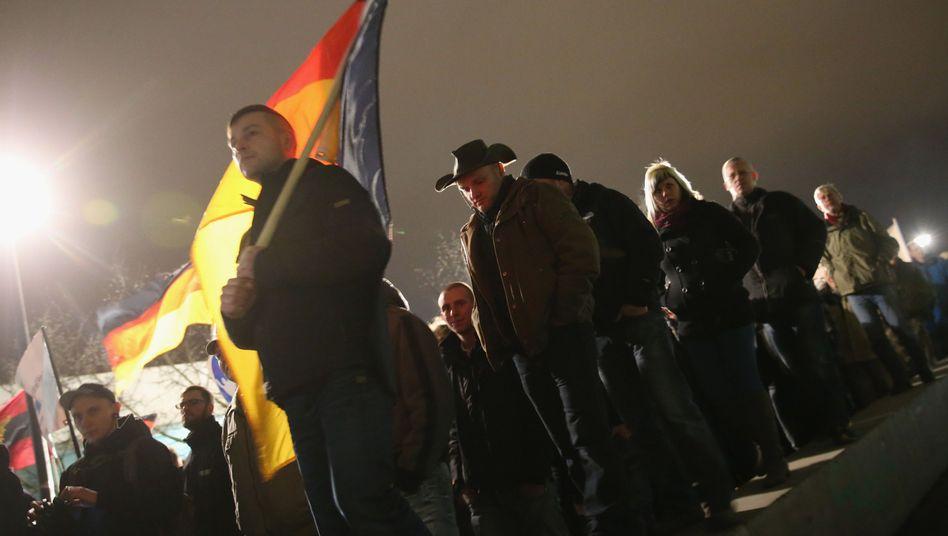 Pegida-Marsch in Dresden: Klima von Angst und Opportunismus