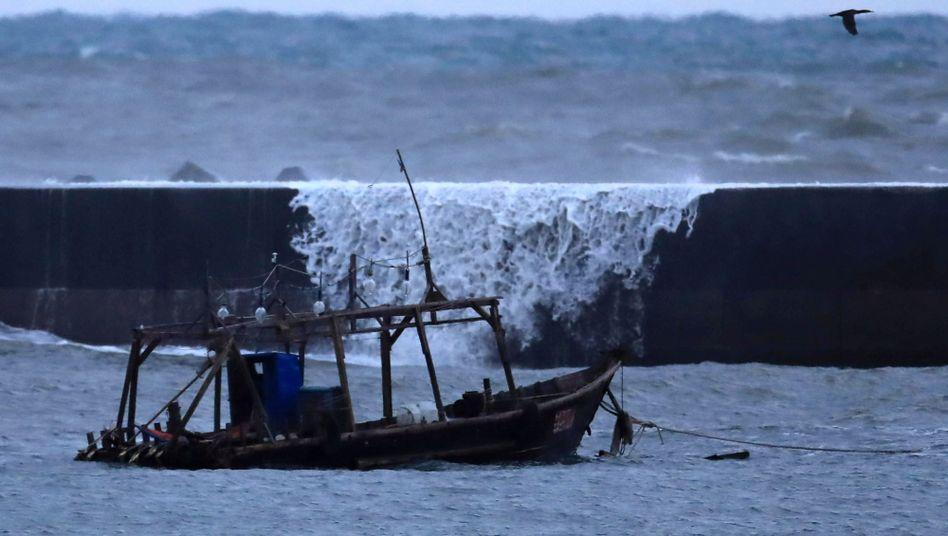 Nordkoreanisches Fischerschiff vor Japans Küste (Archivbild)
