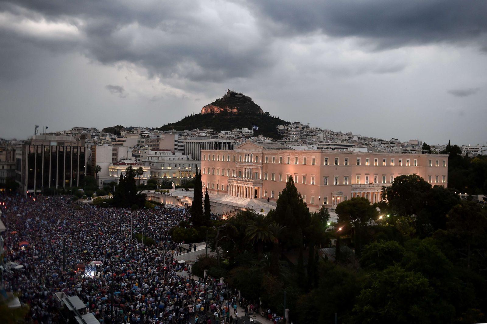 athen griechenland pro euro demo