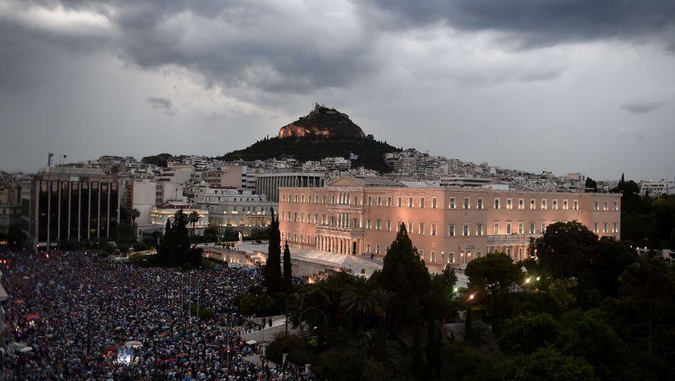 Pro-Euro-Demonstration in Athen: Ein wirklicher Kompromiss