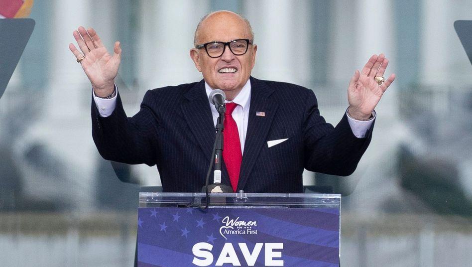 Rudy Giuliani: Seit November war er einer der wichtigsten Helfer Trumps beim Versuch, seine Wahlniederlage mit haltlosen Vorwürfen des Wahlbetrugs infrage zu stellen