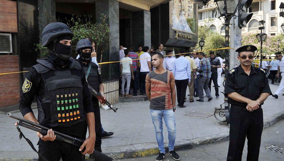 Sicherheitskräfte in Kairo