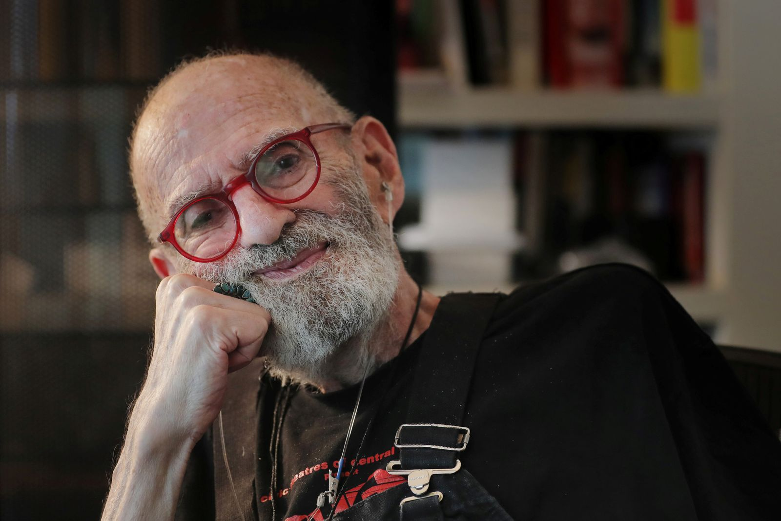FILE PHOTO: AIDS activist and author Larry Kramer poses for a portrait in his apartment in New York