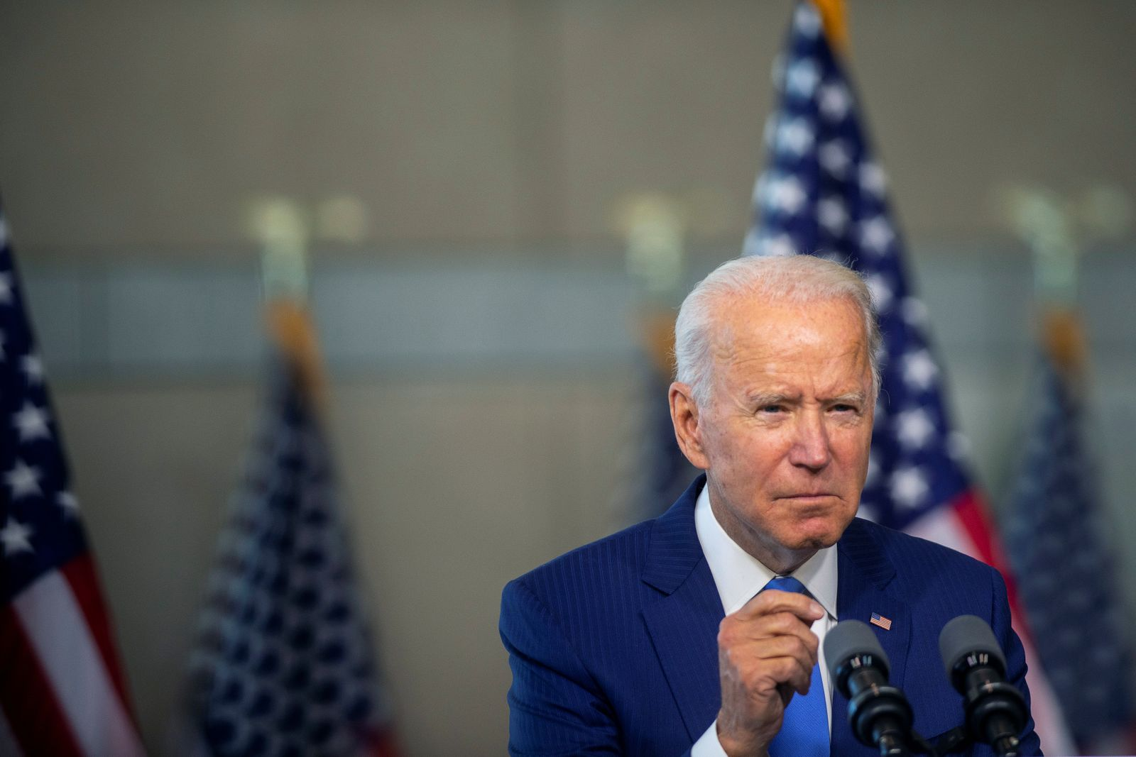 Democratic U.S. presidential nominee Biden delivers remarks in Philadelphia, Pennsylvania