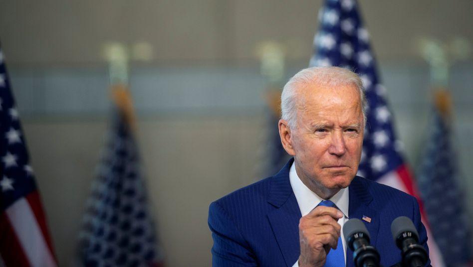 Der demokratische US-Präsidentschaftskandidat Joe Biden bei seiner Rede in Philadelphia