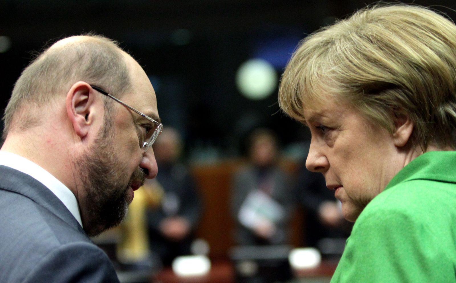 SPIN 44/2013 pp28 Merkel in Brüssel; Merkel, Schulz