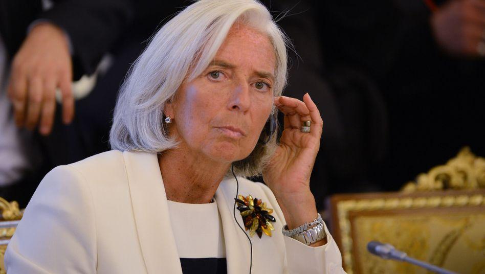 Lagarde im September 2013 in St. Petersburg: Vorwurf lautet auf Nachlässigkeit