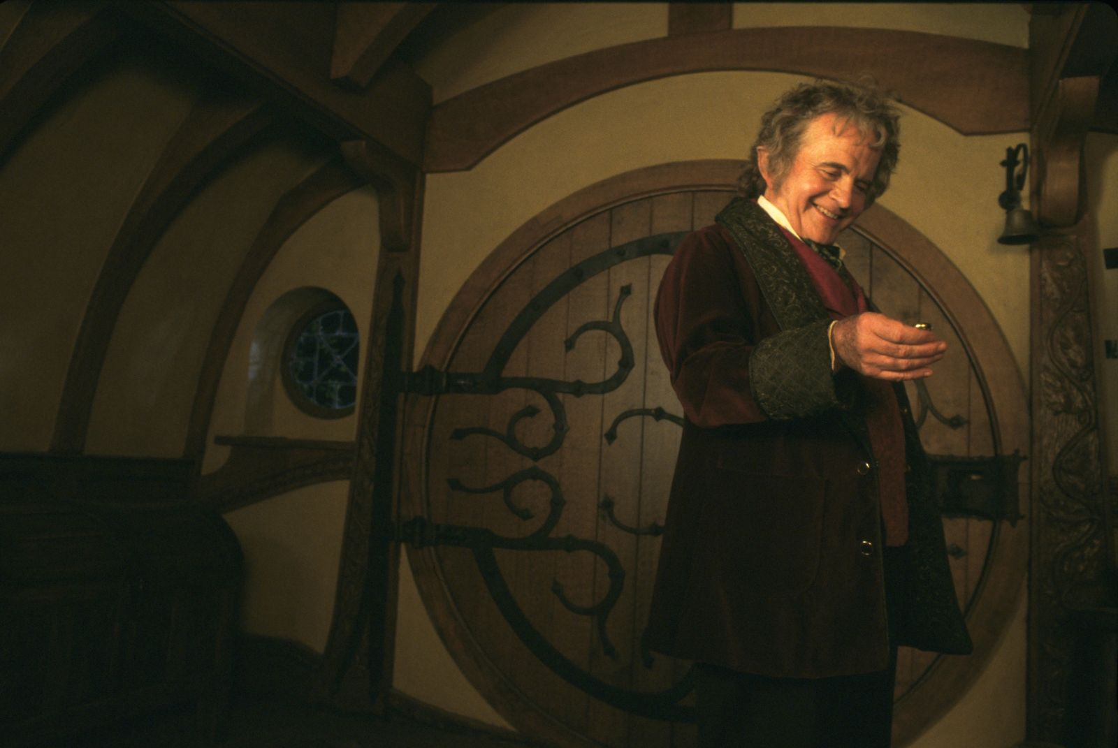 """""""Lord of the Rings: The Fellowship of the Ring"""" Ian Holm © 2001 New Line"""