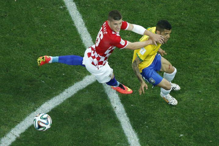 Ante Rebic bei einem Spiel gegen Brasilien