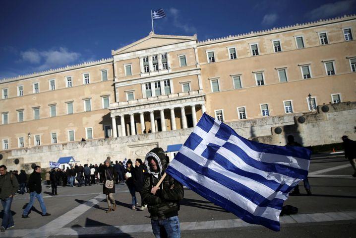 Parlamentsgebäude in Athen im Februar 2017