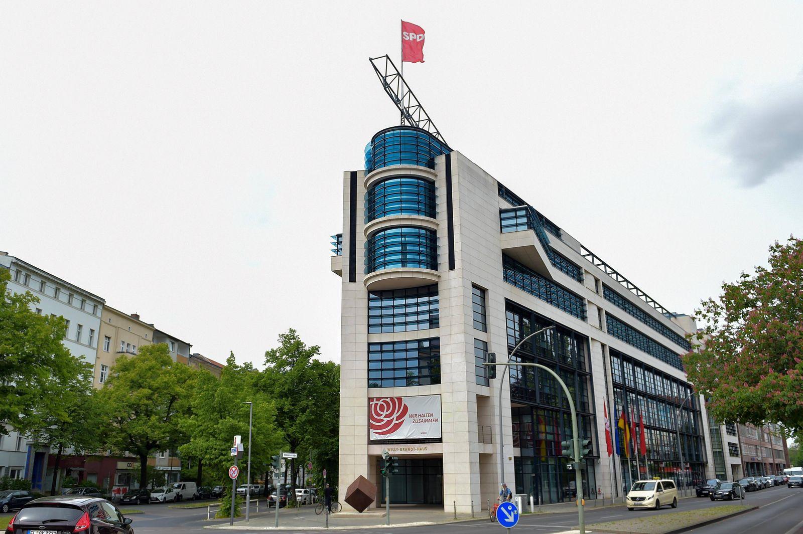 Bundeszentrale der SPD am 23.05.2020 in Berlin Die Bundeszentrale der SPD befindet sich im Willy-Brandt-Haus in Berlin K