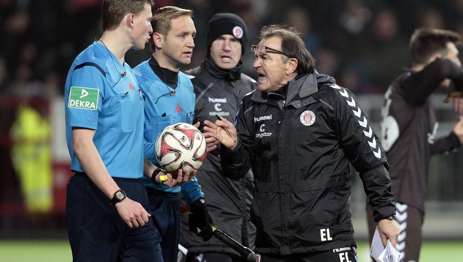 """St. Pauli-Trainer Lienen (M.): """"Bin entsetzt von dem Kontrollausschuss"""""""