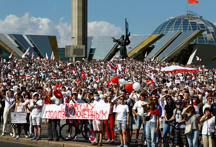 Demonstration der Opposition in Minsk