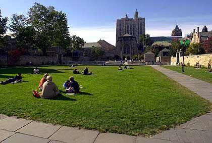 Campus in Yale: Wer viel lernt, sollte sich auch amüsieren