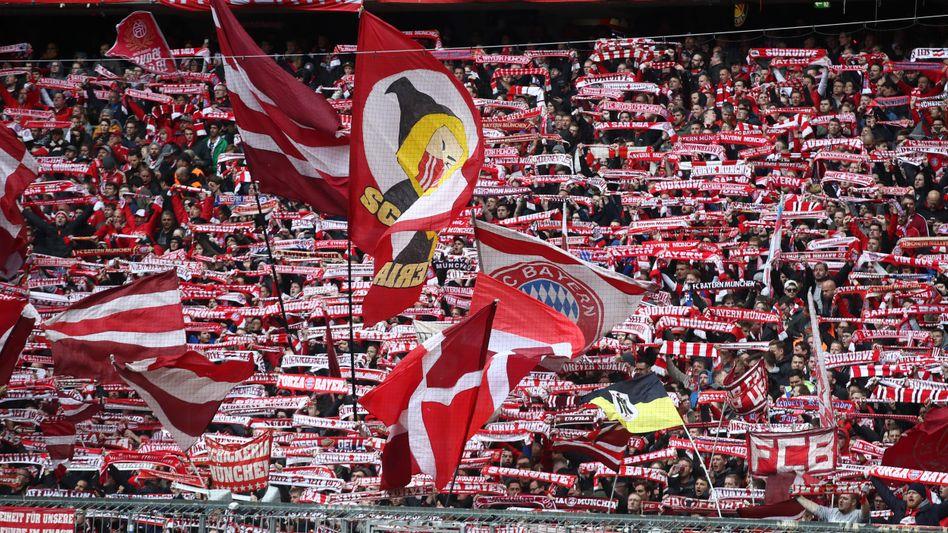 Fans des FC Bayern München im Spiel gegen Hannover 96