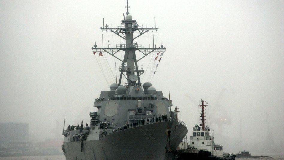 """Zerstörer USS """"Lassen"""" in Shanghai (Archivbild): Kommunikation mit chinesischer Besatzung"""