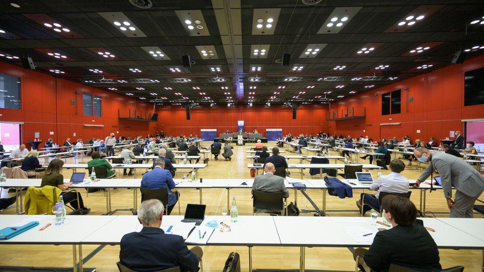 Der Landtag Rheinland-Pfalz tagt derzeit in der Mainzer Rheingoldhalle