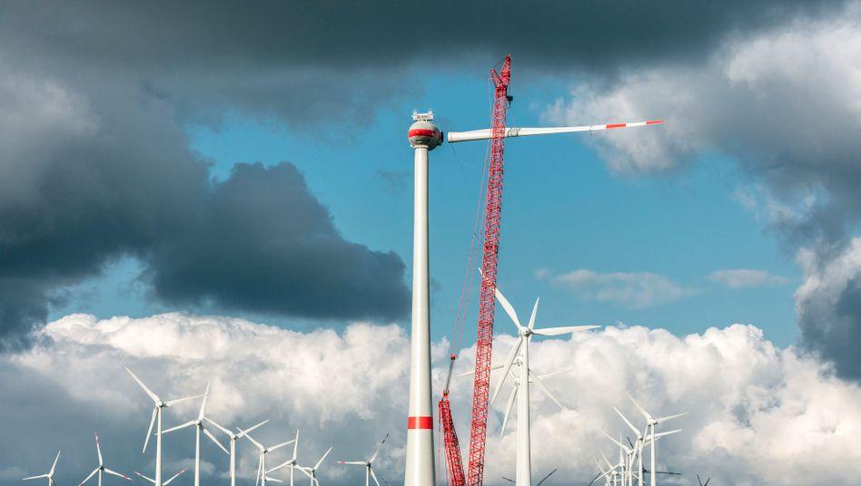 Windkraftanlage: Bis Ende März wollten sich Union und SPD einigen, daraus wurde nichts