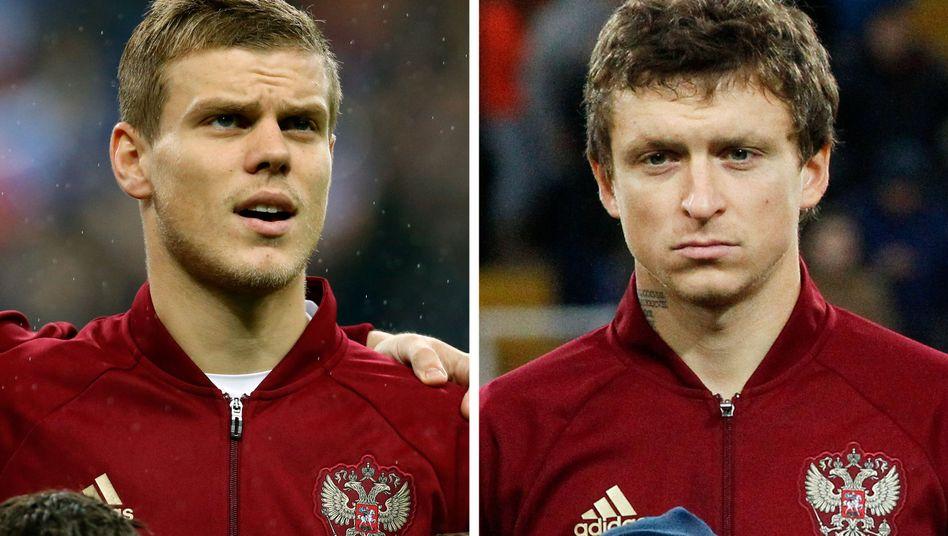Fußballer Kokorin (l.) und Mamajew (März 2016)