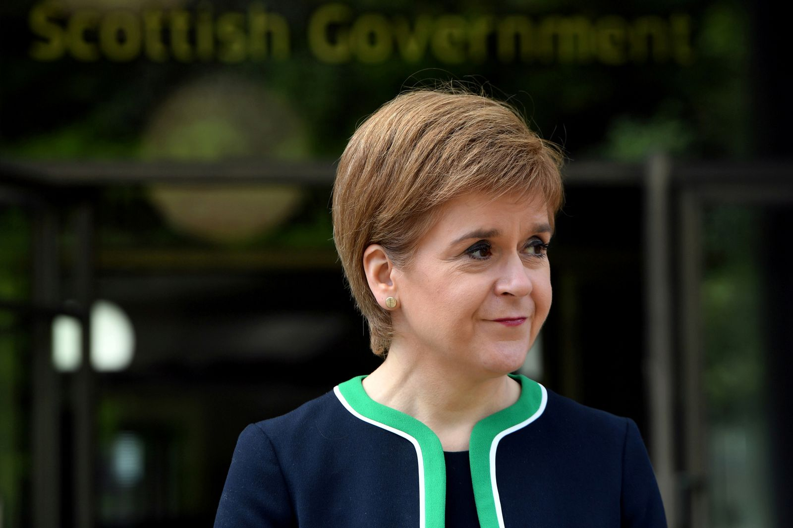 FILE PHOTO: Scotland's First Minister Nicola Sturgeon attends the 75th anniversary of VE Day in Edinburgh