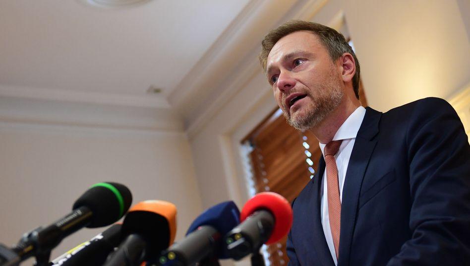 Christian Lindner vor der Presse in Erfurt: Armer schwarzer Kater