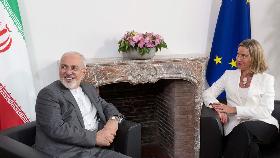 Irans Außenminister Zarif, EU-Außenbeauftragte Mogherini (Archivbild)