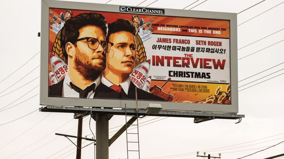 """""""The Interview""""-Filmplakat in Los Angeles: Premiere an Weihnachten?"""