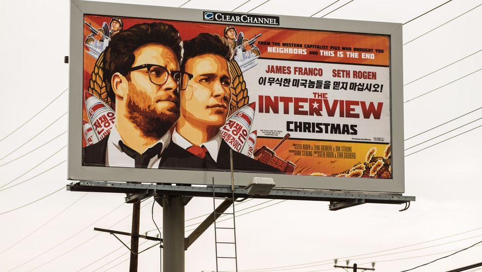 """Plakatwerbung für """"The Interview"""": Auch für Cyberkriminelle ein interessanter Film"""