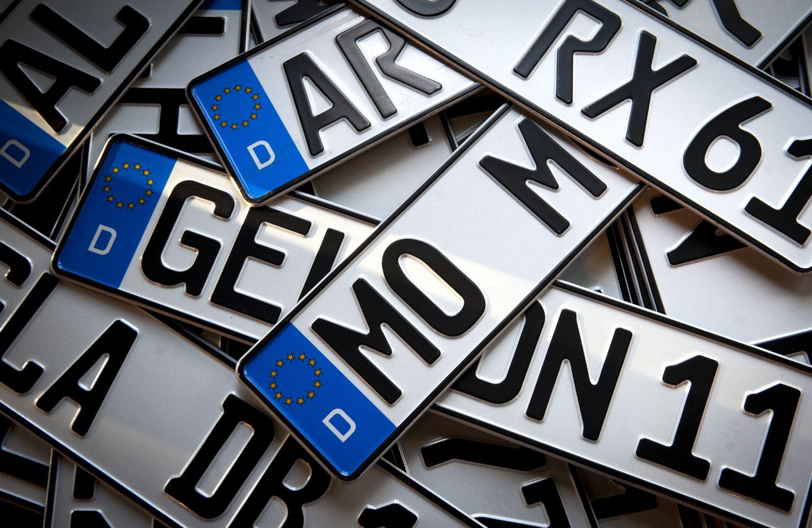 NICHT VERWENDEN Autokennzeichen