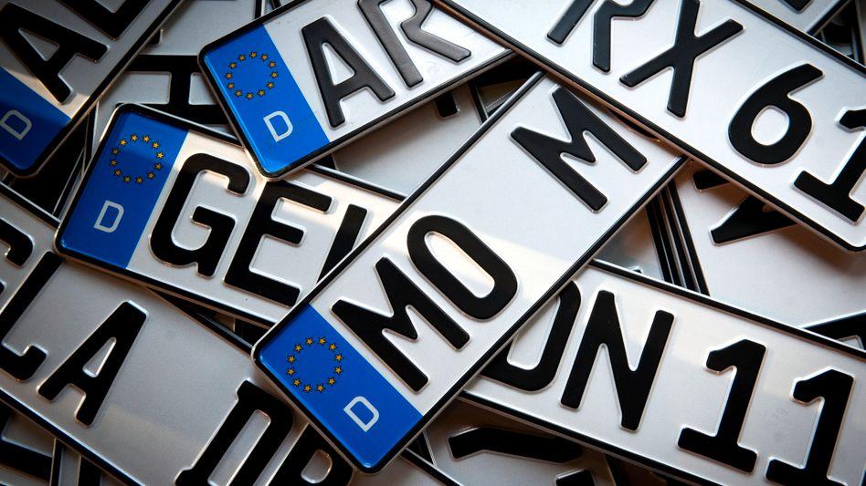 Autokennzeichen: Bundesrat soll die Verordnung im September billigen