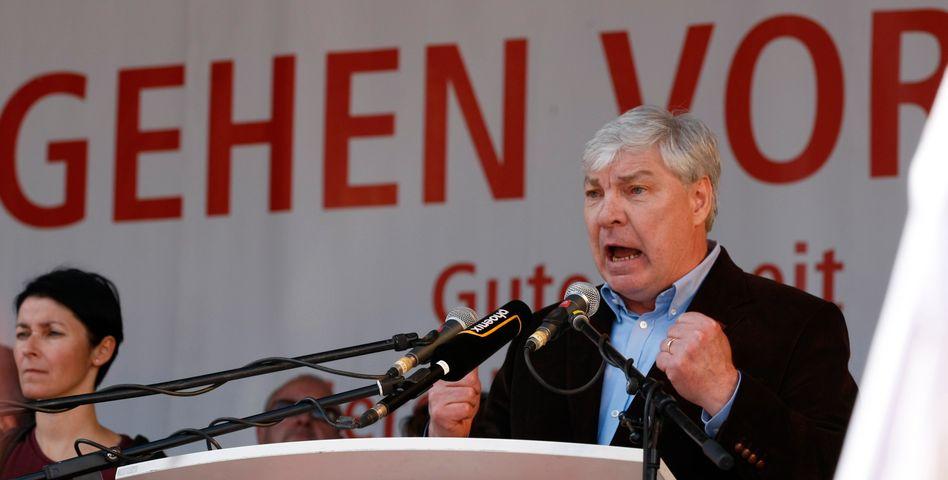 DGB-Chef Sommer auf einer Kundgebung am 1. Mai: Zeit der moderaten Lohnpolitik vorbei