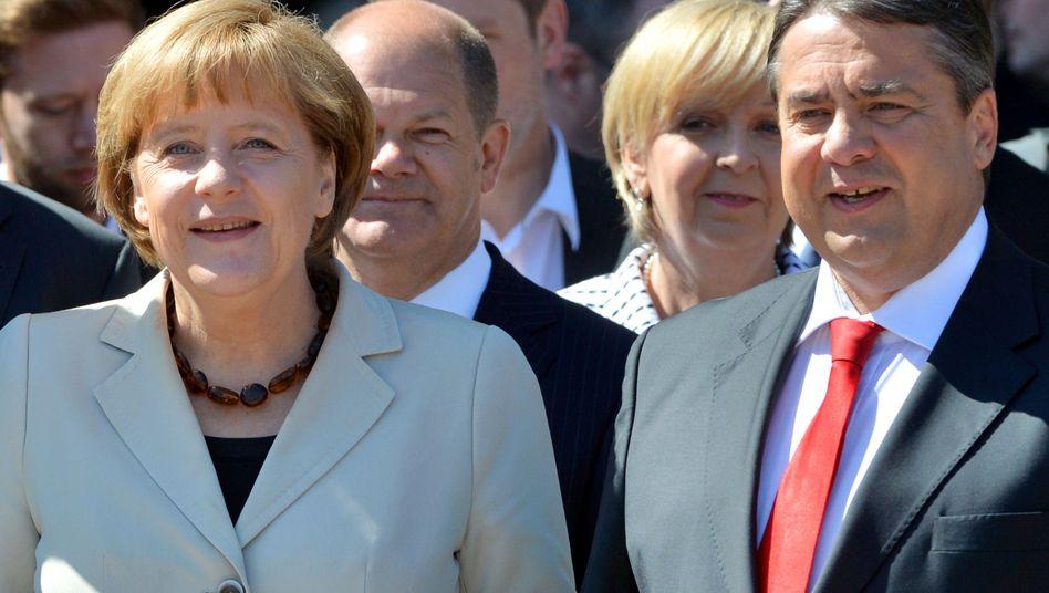 Kanzlerin Merkel, SPD-Chef Gabriel: Und wer kommt noch?