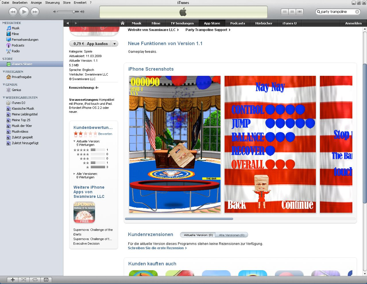 iTunes 7iPhone / App / Party Trampolines