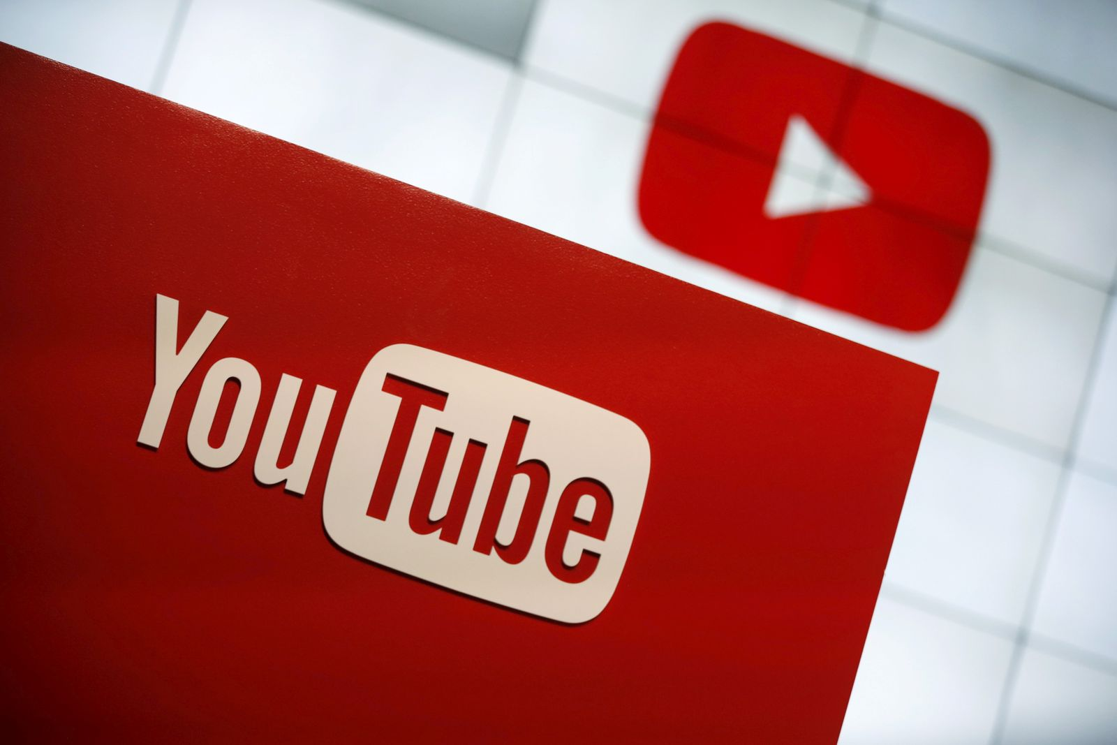 FILE PHOTO: YouTube logo at the YouTube Space LA in Playa Del Rey