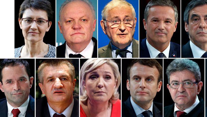 Präsidentschaftskandidaten in Frankreich: Elf Politiker, ein Ziel