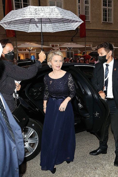 """European Commission President Ursula von der Leyen at the Salzburg Festival in July: One former Constitutional Court justice says the Commission wants to """"coldly"""" create a """"federal European state."""""""