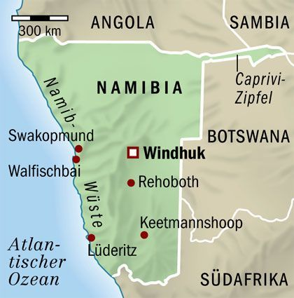 Namibia: Walvis Bay (oder auch Walfischbai genannt) liegt zwischen Atlantik und Namib