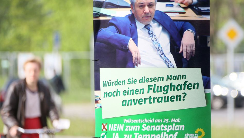 Wahlplakat der Grünen: Berlin ist trotz des Bürgermeisters erfolgreich