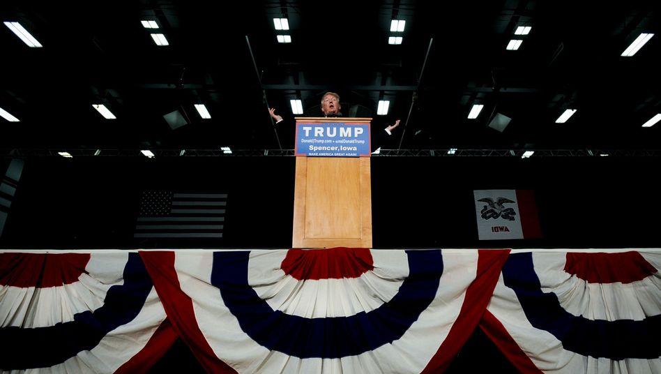 Trump auf Wahlkampftour in Iowa: Seine Worte werden bleiben