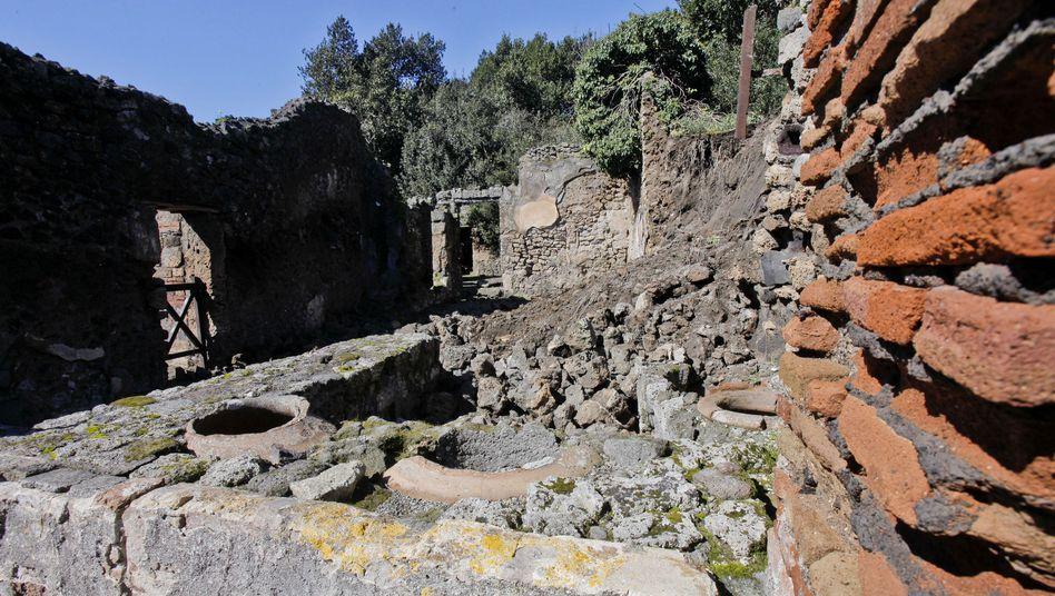 Mauer in Pompeji: Die Ruinenstadt bleibt wegen Streik geschlossen