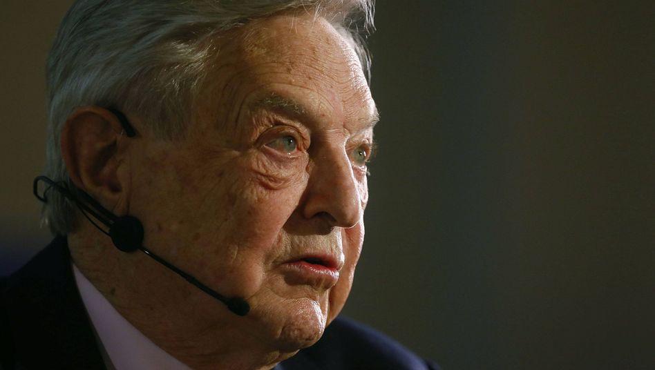 """Investor Soros bei einem Auftritt in Frankfurt: """"In einem Punkt hat er recht"""""""