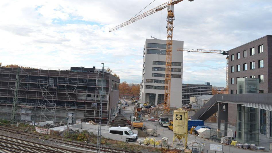Baustelle auf dem Bildungscampus in Heilbronn