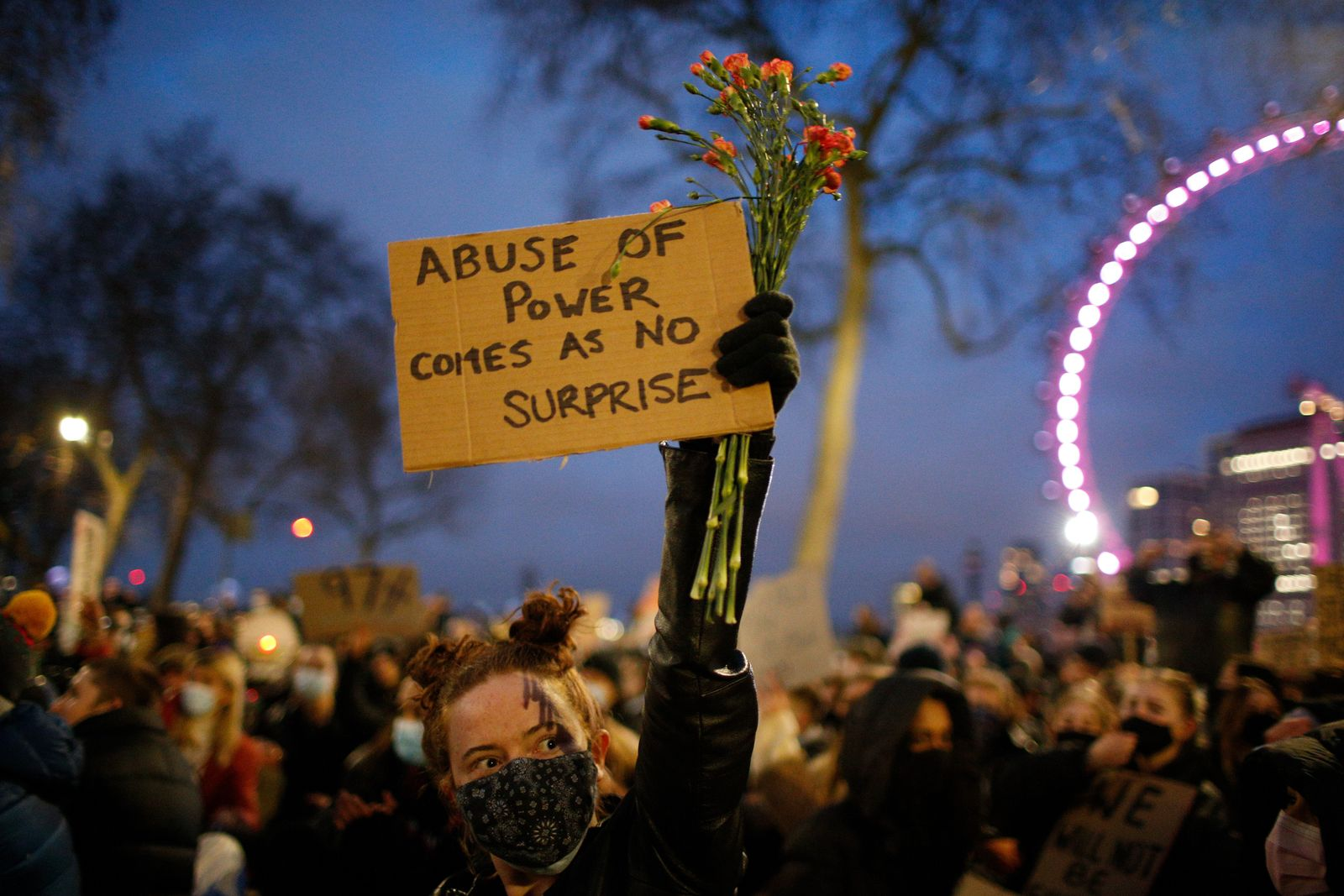 Violence against women and new proposed police powers protested in London