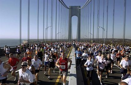 Läufer beim New York Marathon: Hinterher stolz wie Bolle