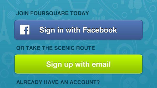 Foursquare-App auf einem iPhone: Adressübertragung ohne Nachfrage