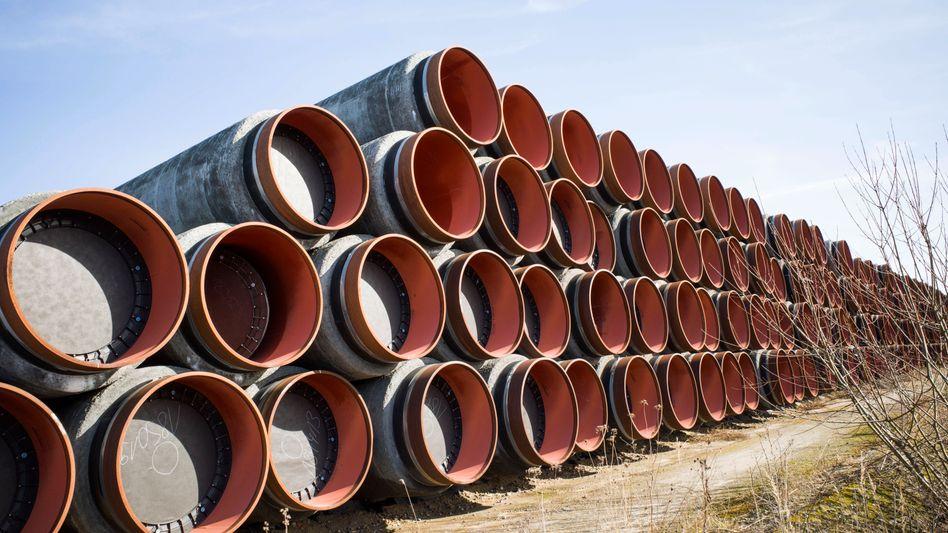Rohre für die Pipeline Nord Stream 2: Erdgas verteuerte sich mit plus 170,5 Prozent besonders stark
