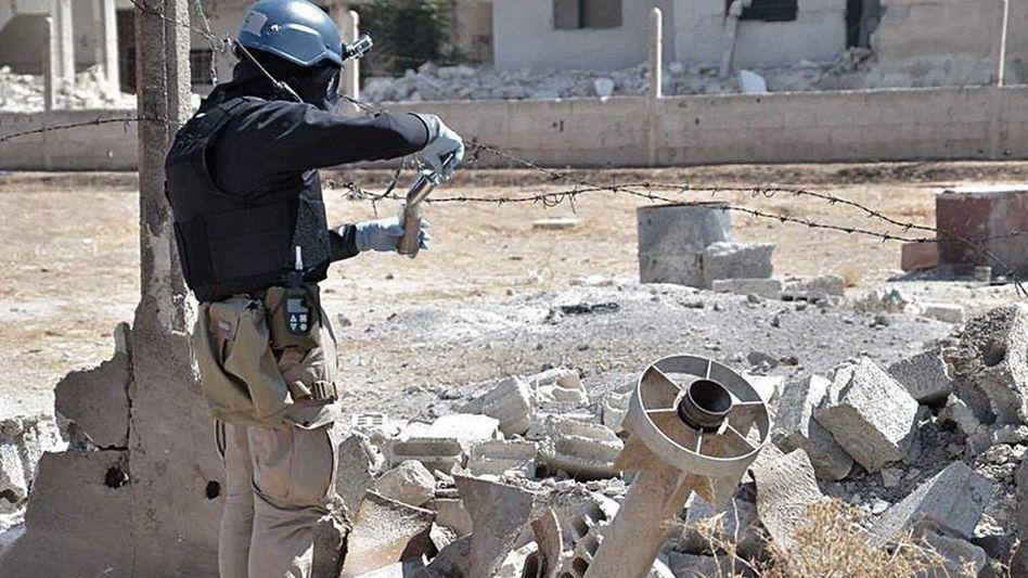 Uno-Waffeninspekteur bei Damaskus
