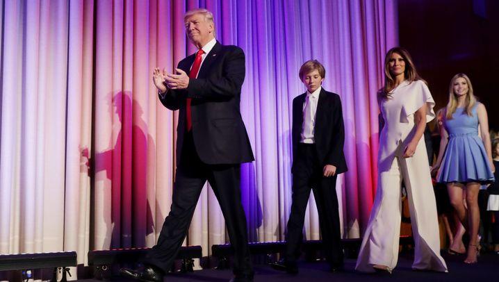 Trumps Siegesrede: Die besten Bilder der Wahlnacht