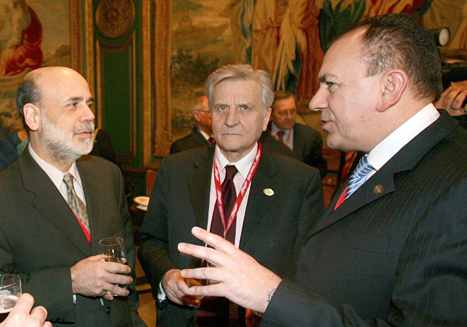 G7- Finanzministertreffen - Empfang Bernanke Trichet Weber